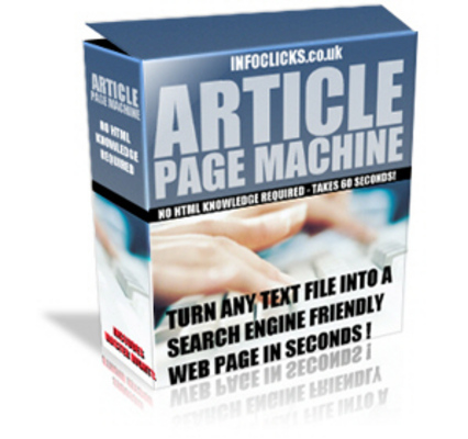 Product picture Article Page Machine Convert Text Into SE Web Pages